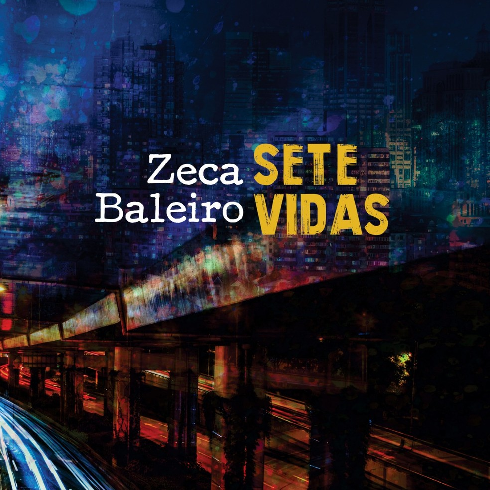 Capa do single 'Sete vidas', de Zeca Baleiro — Foto: Divulgação