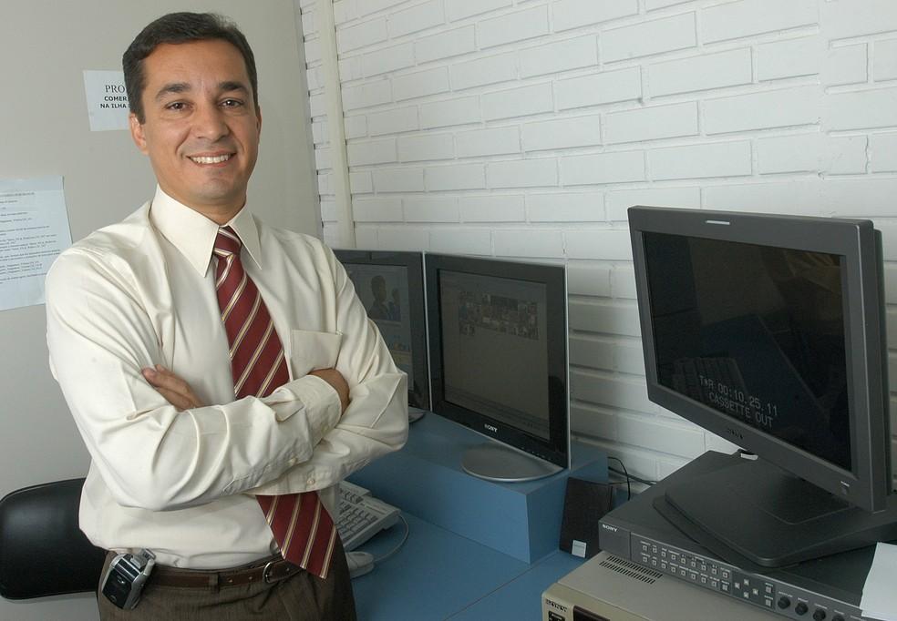 Ted Conti foi apresentador do telejornal da TV Gazeta  — Foto: Carlos Alberto da Silva/ A Gazeta - 11/08/2006