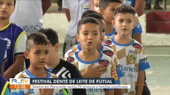 Festival Dente de Leite de Futsal: seletiva reune crianças e famílias em Paracambi