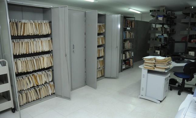Interior do Cedoc, da Funarte, interditado hoje