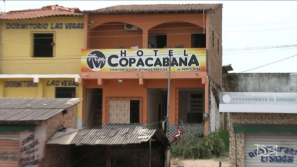 Daiane Silva Gomes trabalhava como recepcionista neste hotel  Foto ReproduoTV Mirante
