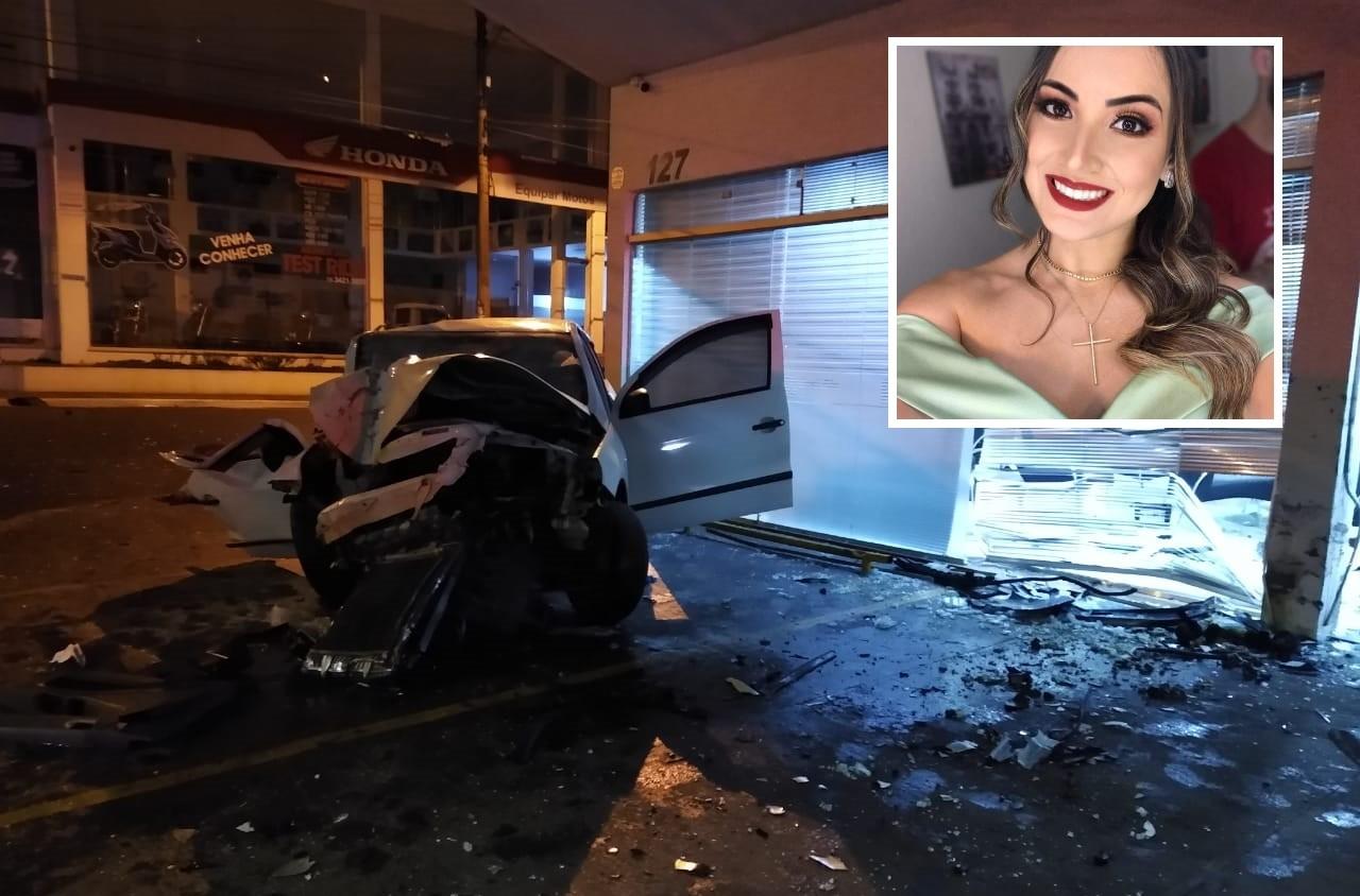Novo vídeo mostra carros em alta velocidade antes de acidente que matou psicóloga em Assis