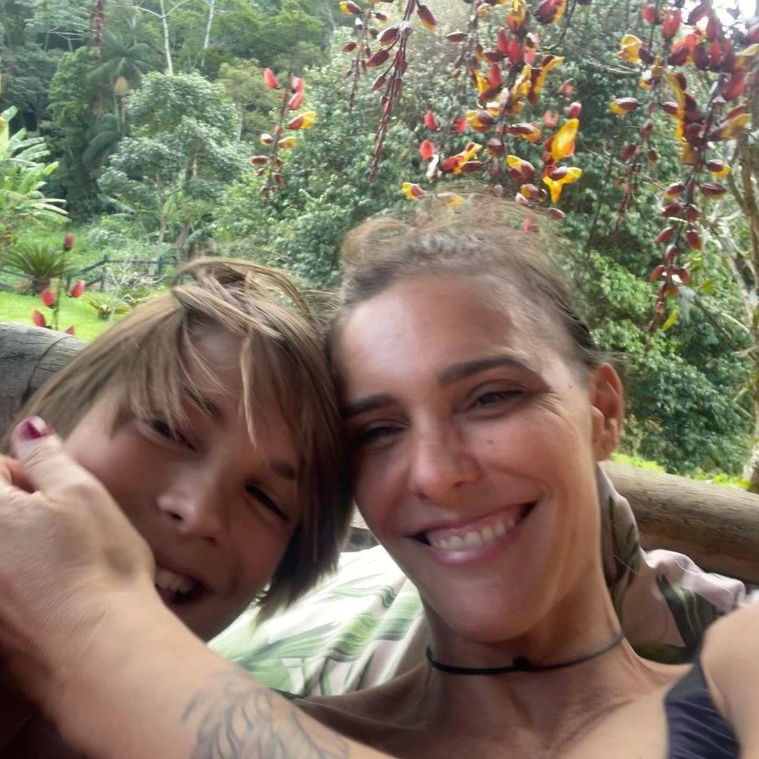 Fernanda Lima e filho (Foto: Reprodução/Instagram)
