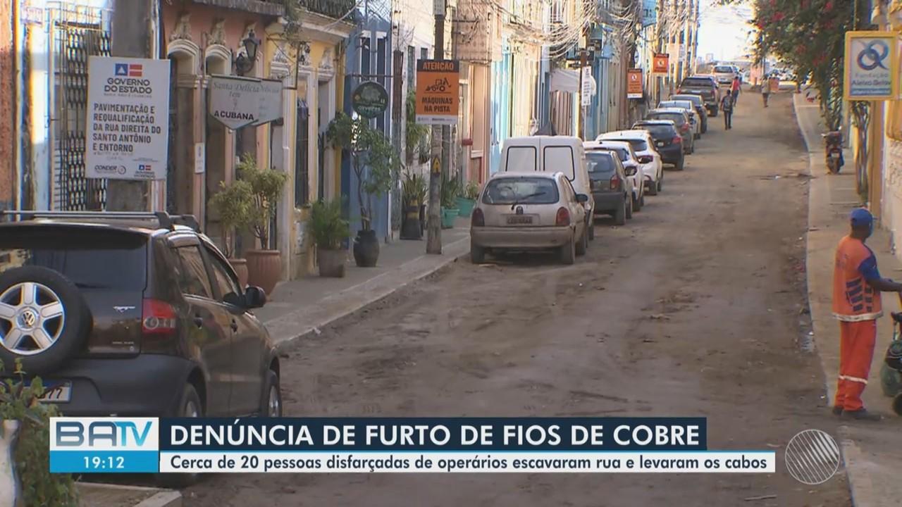 Empresa presta queixa de roubo de fios de cobre em local de obra em bairro de Salvador