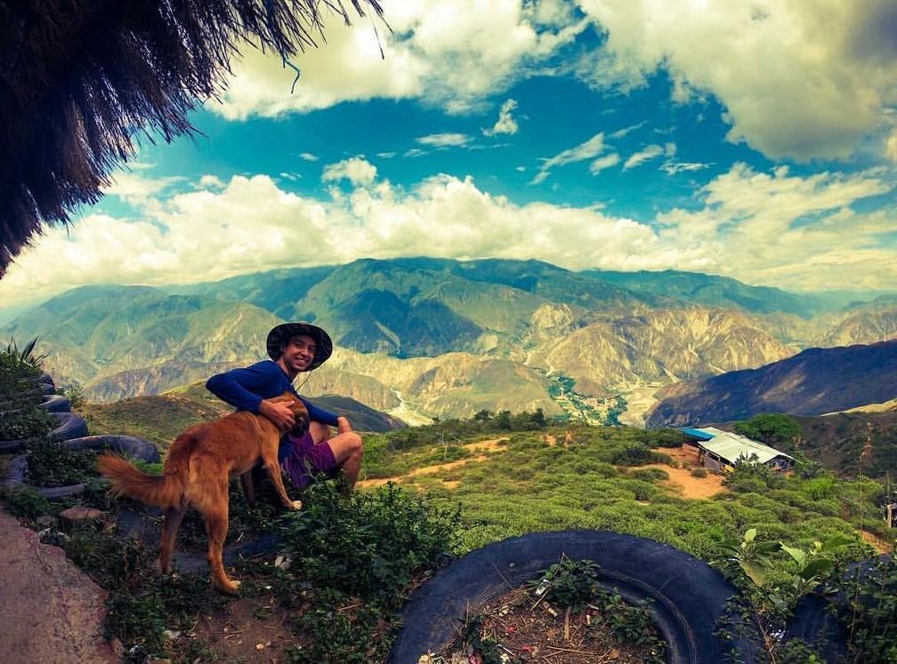 Foto tirada durante passagem pela Colômbia  — Foto: Gabriel Dias/ Arquivo pessoal