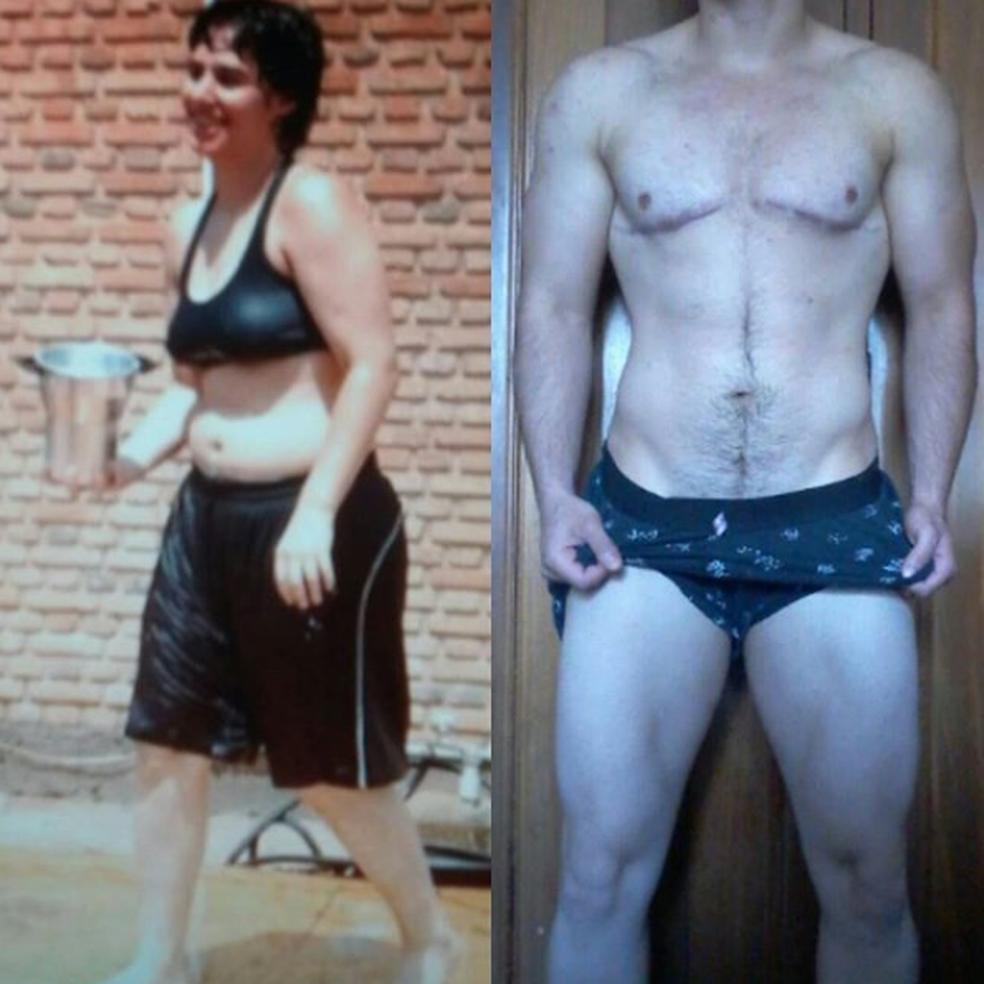 Paulo antes e depois da transição de gênero (Foto: Reprodução/Instagram)