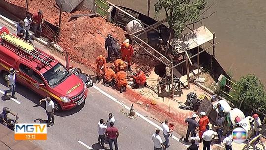 Morre operário soterrado em obra de Betim, na Grande BH