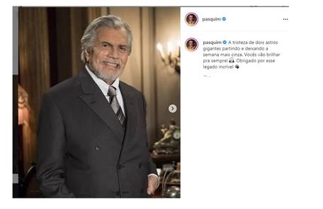 Marcos Pasquim também prestigiou o amigo com a última homenagem Reprodução