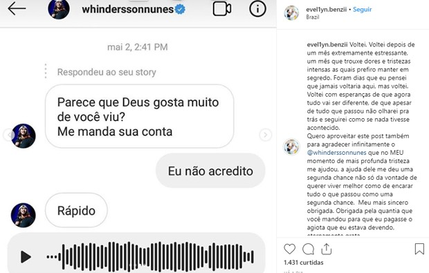 Whindersson Nunes paga dívida que fã tinha com agiota (Foto: Reprodução/Instagram)