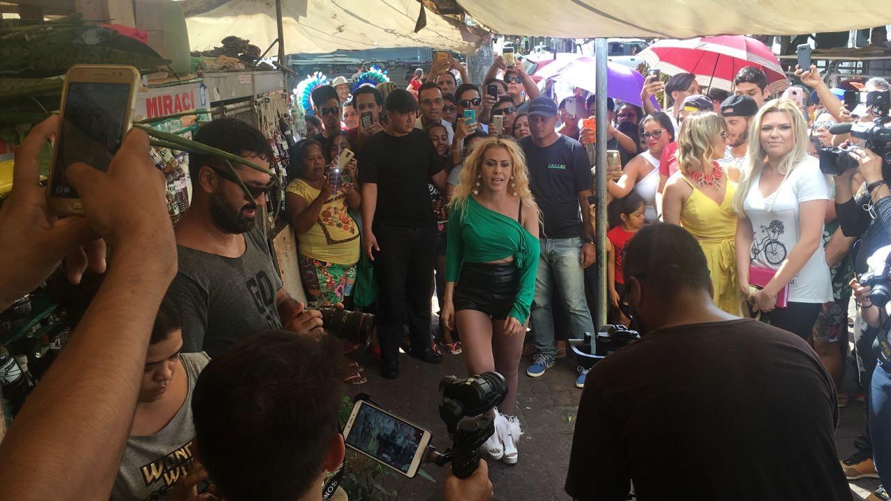 Joelma e Zé Felipe param Ver-o-Peso e outros pontos turísticos de Belém durante gravação de clipe