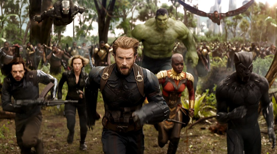 Capitão América, Pantera Negra e Viúva Negra em Vingadores: Guerra Infinita (Foto: Divulgação)