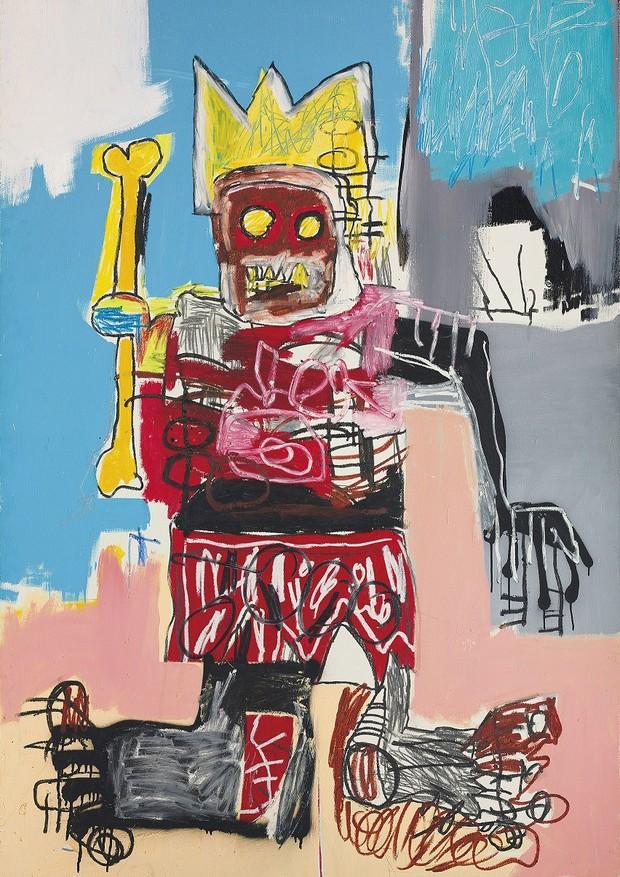 Tela de Jean-Michel Basquiat, de 1982 (Foto: Divulgação)