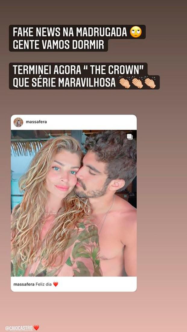 Grazi Massafera esclare boatos sobre fim de relacionamento com Caio Castro (Foto: Reprodução/Instagram)