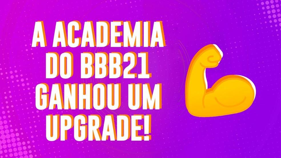 Acedemia do BBB21 ganhou um upgrade — Foto: Gshow