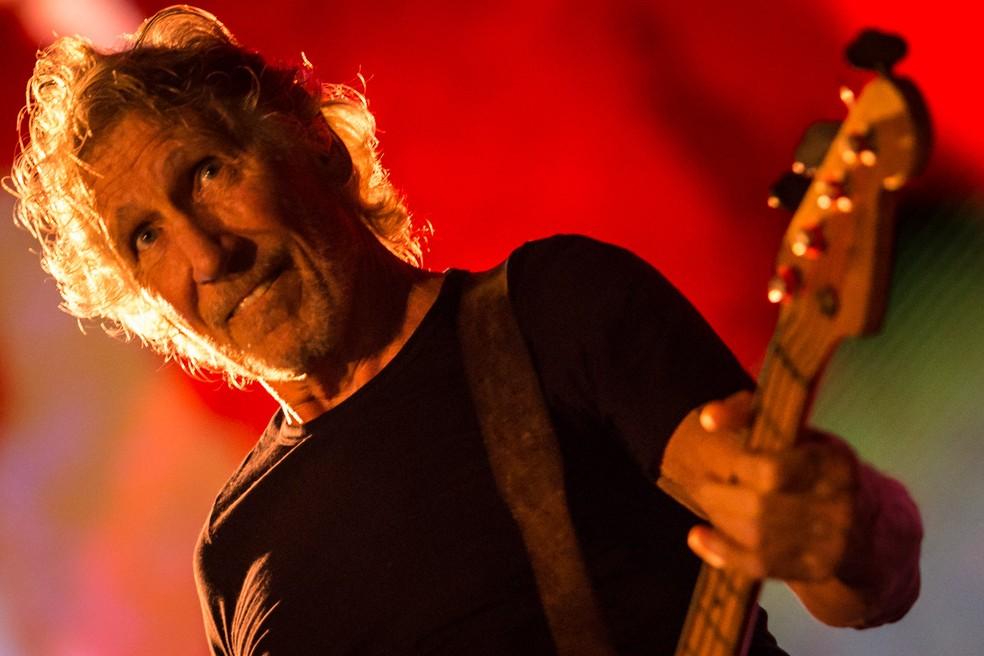 Roger Waters, baixista e um dos fundadores do Pink Floyd, se apresenta na turnê solo 'Us + Them' no Allianz Parque, na Barra Funda, Zona Oeste de São Paulo. É o primeiro show da turnê no Brasil — Foto: Fábio Tito/G1