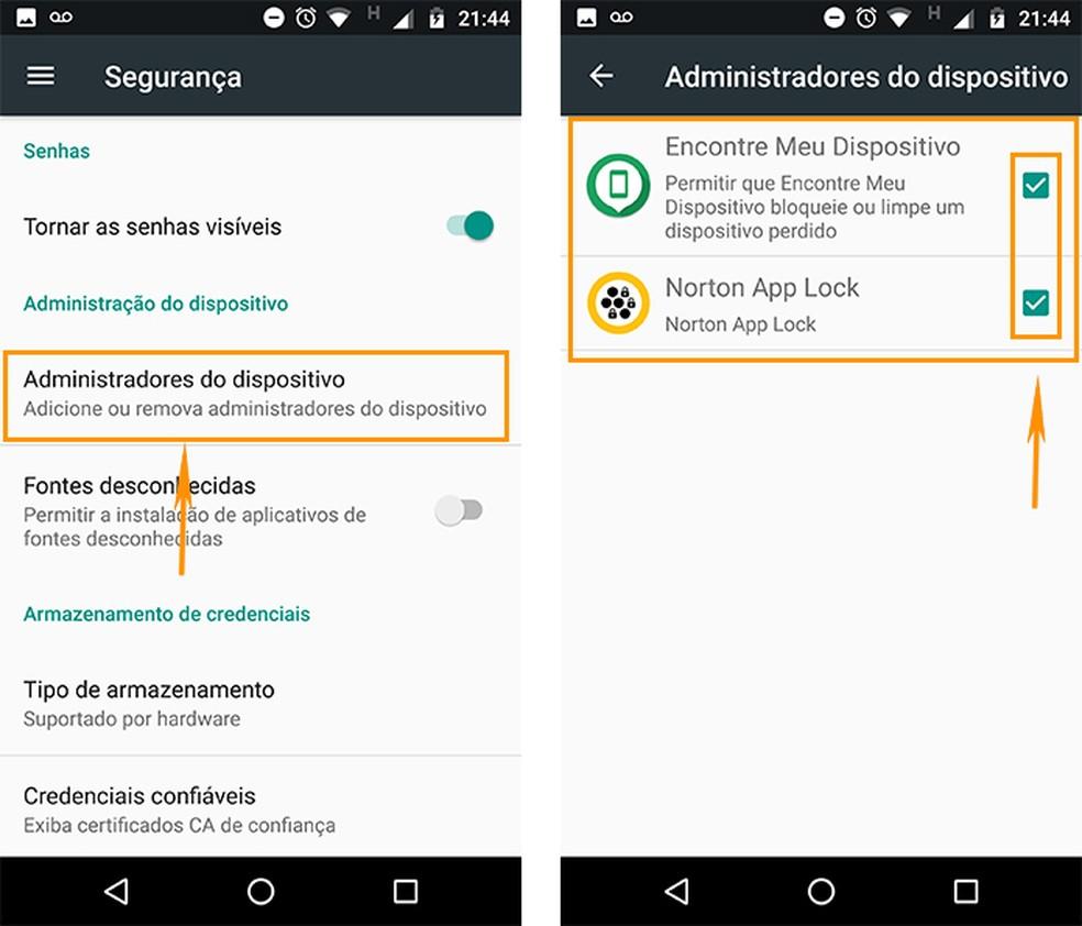 Descubra quais aplicativos estão como administradores do dispositivo Android (Foto: Reprodução/Barbara Mannara)
