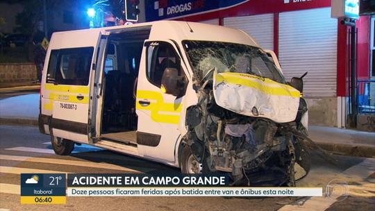 Acidente deixa 12 feridos sem gravidade em Campo Grande, na Zona Oeste do Rio