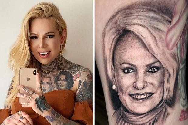 Melissa Schlukebier tatuou Ana Maria Braga (Foto: Reprodução/Instagram)