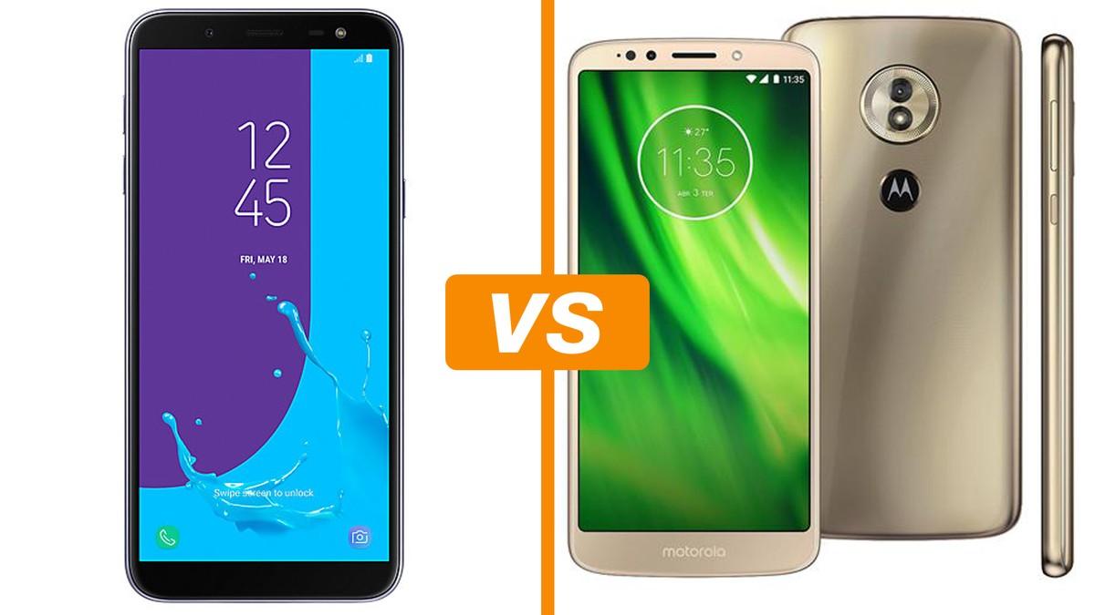 63eccdf06 Galaxy J6 vs Moto G6 Play  compare ficha técnica e preço