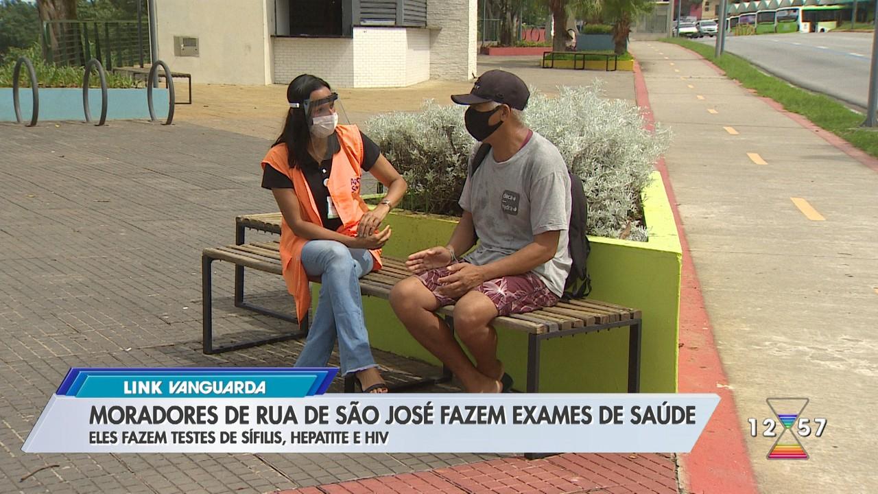 Moradores de rua de São José fazem exames de saúde