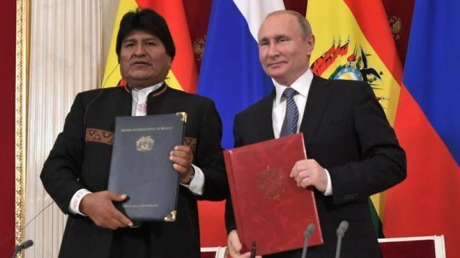 Evo Morales fez uma visita diplomática a Moscou nesta semana (Foto: abi/bbc)