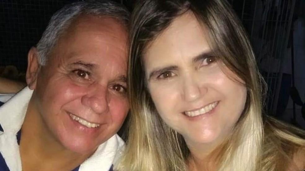 Jaime e Jaciara morreram no mesmo dia com Covid-19 no ES — Foto: Reprodução/TV Gazeta