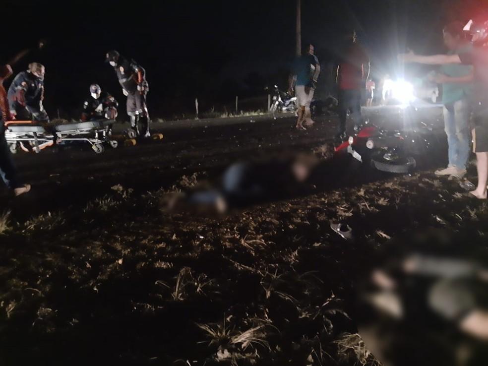 Acidente foi na RO-133 em Machadinho D'Oeste — Foto: PM/Reprodução
