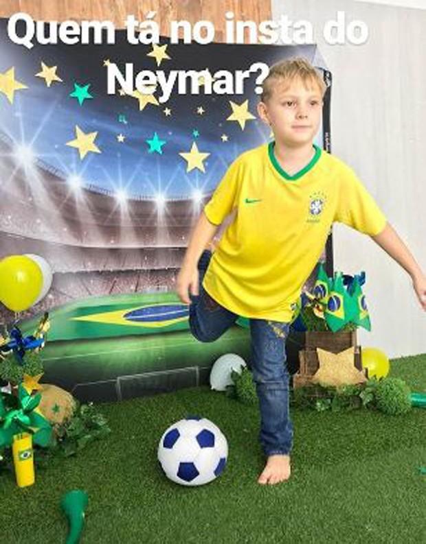 Davi Lucca, filho de Neymar e Carol Dantas (Foto: Reprodução/Instagram)