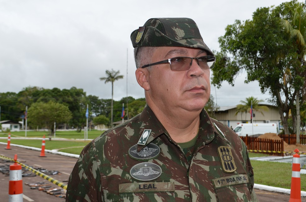 General Leal, da 17° Brigada de Infantaria de Selva (Foto: Hosana Morais/G1)