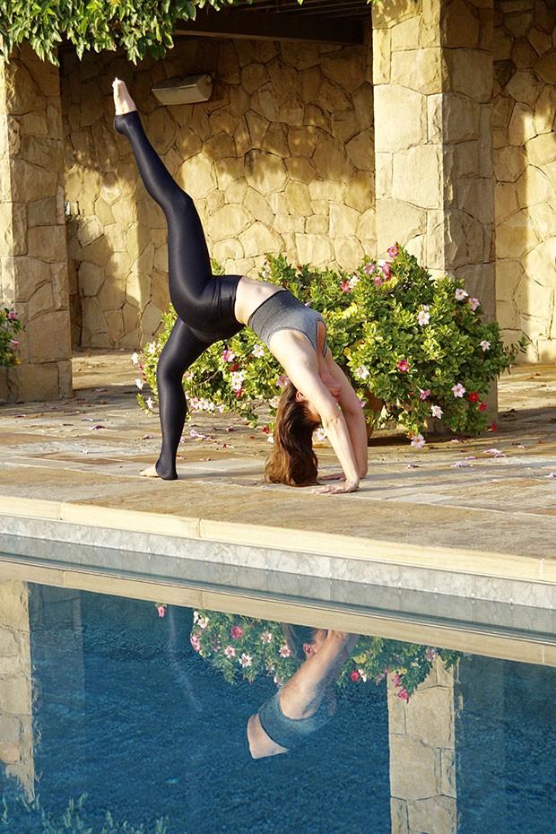 Fernanda Machado pratica yoga uma vez ao dia (Foto: Arquivo pessoal)