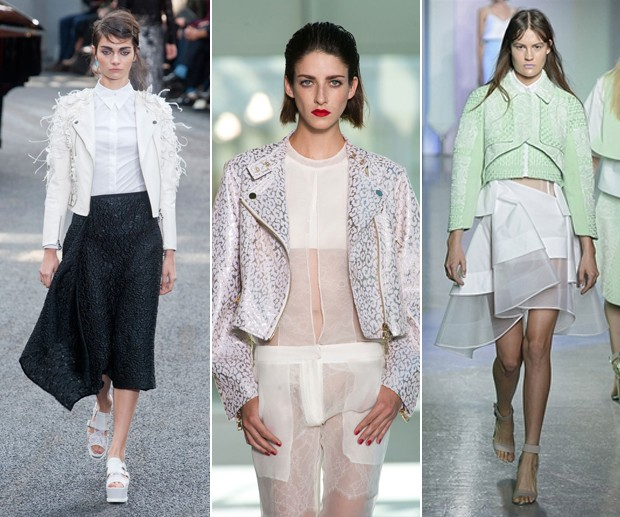 Biker preciosa: Erdem; Antonio Berardi; Peter Pilotto (Foto: Getty Images)