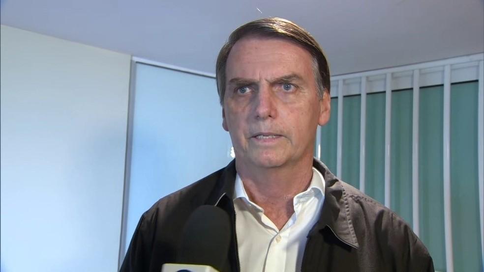 Jair Bolsonaro, candidato à presidência — Foto: Reprodução/G1