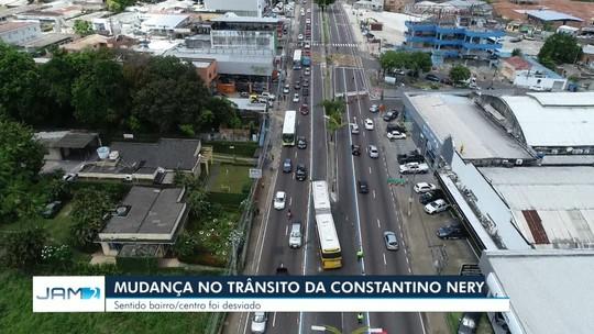 Trecho da Av. Constantino Nery é interditado, em Manaus; veja o que muda