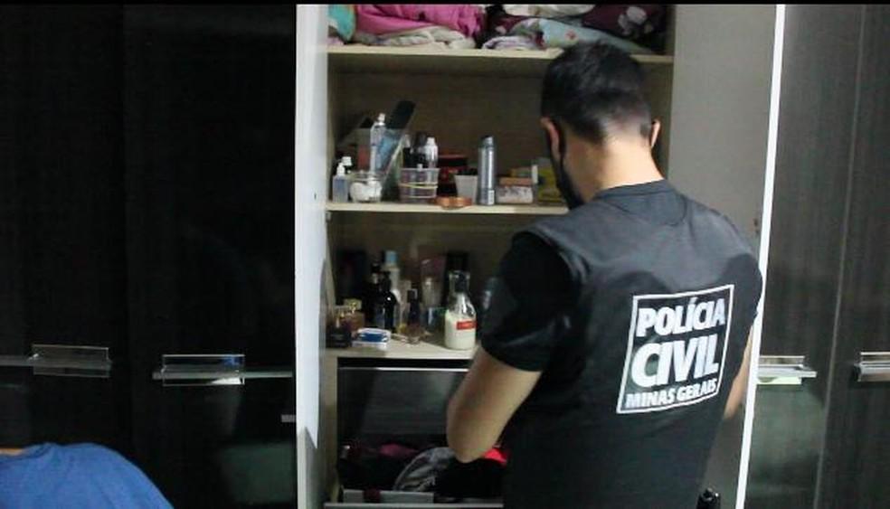 Operação da Polícia Civil prendeu quatro pessoas suspeitas de envolvimento em roubo na Câmara Municipal de Betim, na Grande BH. — Foto: Polícia Civil de Minas Gerais