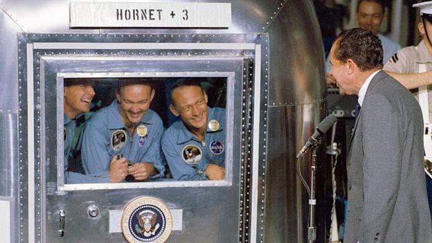 Nasa, apollo, Felizmente, Nixon não teve de pronunciar o discurso preparado para se Aldrin e Armstrong ficassem presos na Lua (Foto: Nasa)