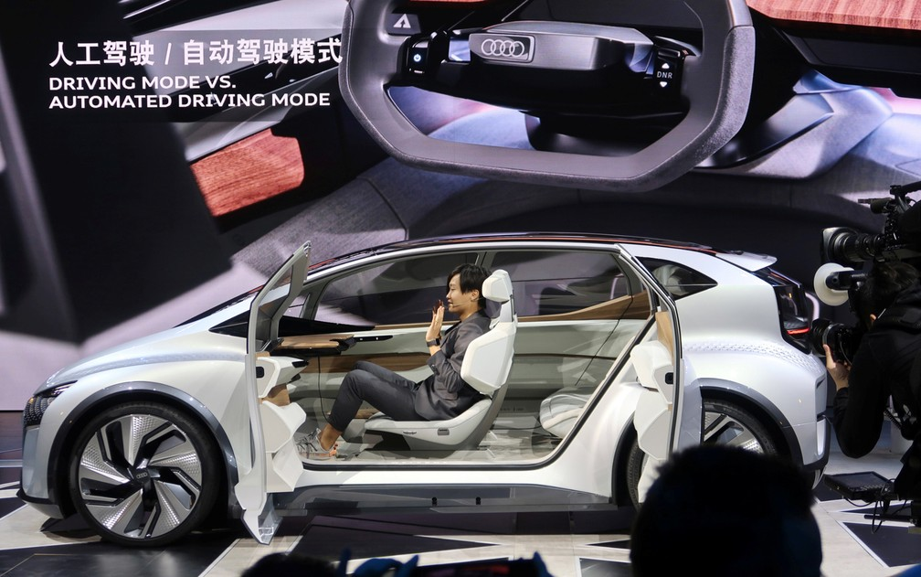 Audi AI ME, compacto autônomo da marca de luxo — Foto: Norihiko Shirouzu/Reuters