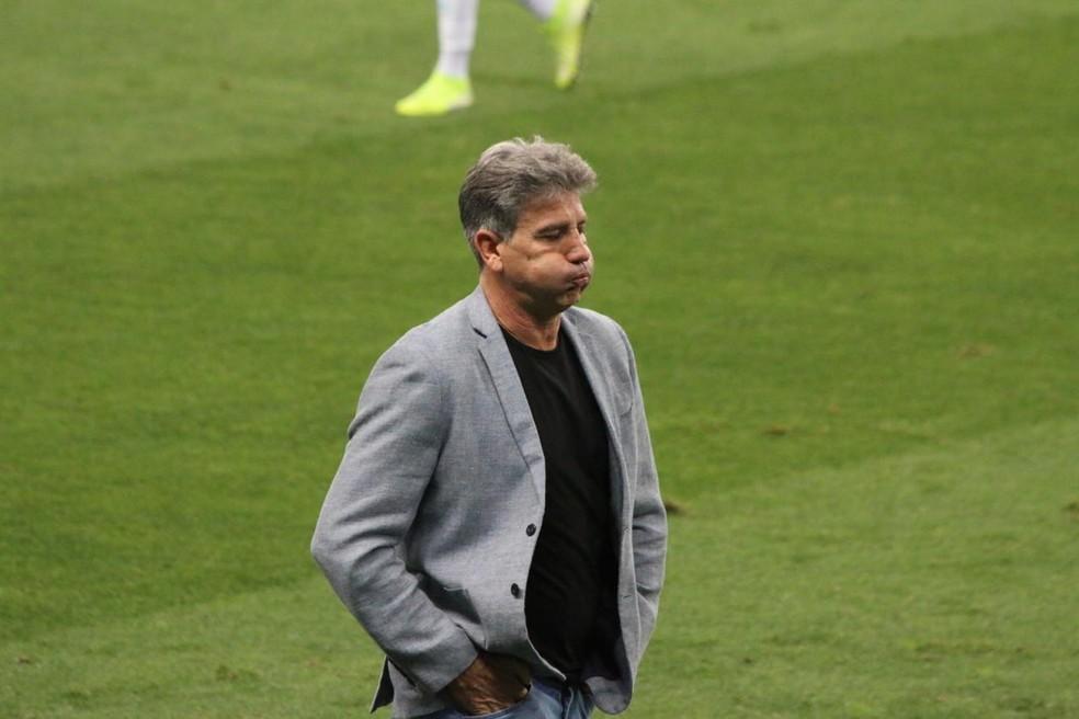Técnico Renato Portaluppi em Grêmio 2x1 Bragantino — Foto: Eduardo Moura/ge.globo