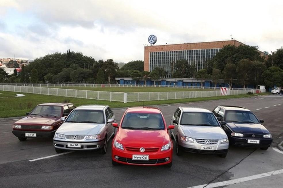 VW Gol: da primeira à quinta geração (Foto: Divulgação) — Foto: Auto Esporte