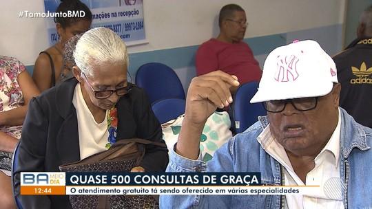 Clinica oferece cerca de 500 consultas de graça com diversos especialistas em Salvador