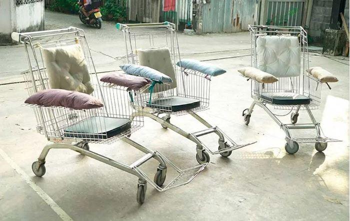 Carrinho de compras vira cadeira de rodas (Foto: Reprodução/Instagram Turismo Adaptado)