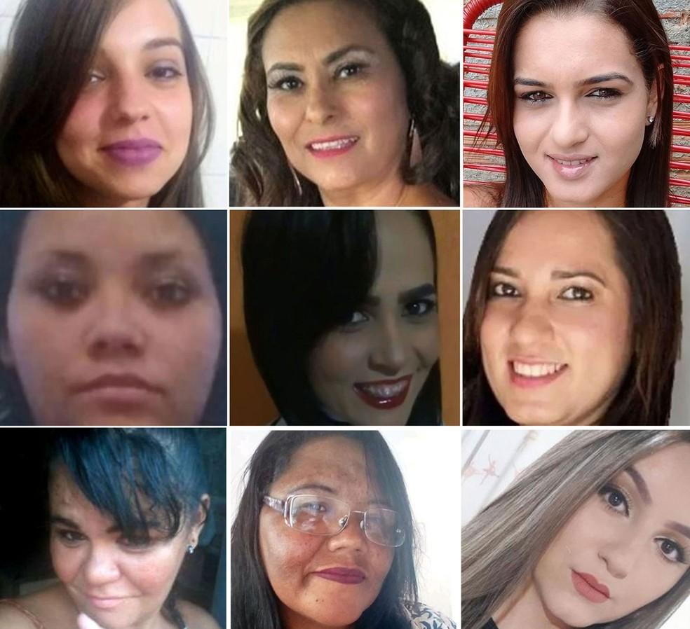 Vítimas de feminicídio no 1º trimestre de 2019 em São Paulo — Foto: Reprodução/Arquivo pessoal