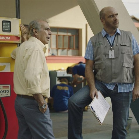 Walter Breda com Paulo Tiefenthaler na série 'Auto posto' (Foto: Divulgação)