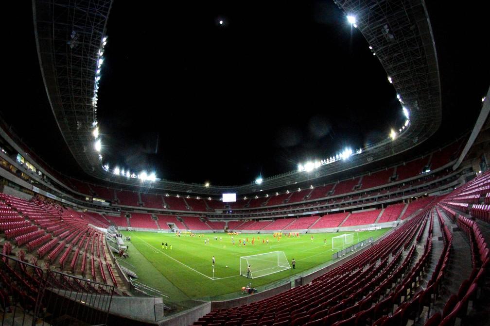 Arena de Pernambuco recebeu um jogo do Brasil pela última vez em 2016 — Foto: Marlon Costa / Pernambuco Press