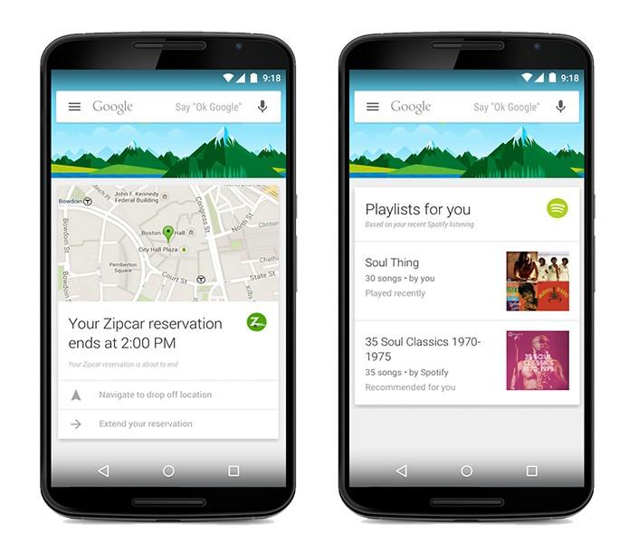 Google Now mostrará cards de mais de 70 apps diferentes (Reprodução/Google)