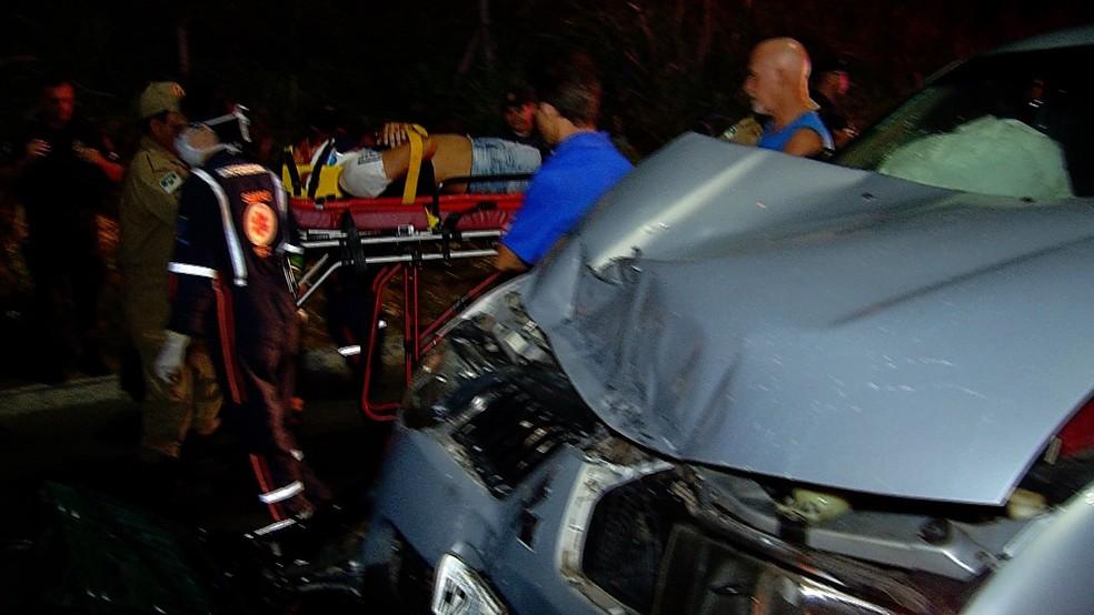 Motociclista foi atropelado e arrastado por 70 metros (Foto: Reprodução/Inter TV Cabugi)