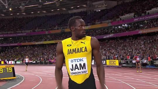 Usain Bolt se machuca e não completa última prova da carreira em Londres