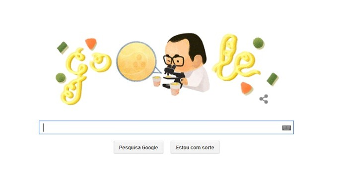 Doodle do Google sobre Momofuku Ando celebra criador do miojo  (Foto: Reprodução/Google)