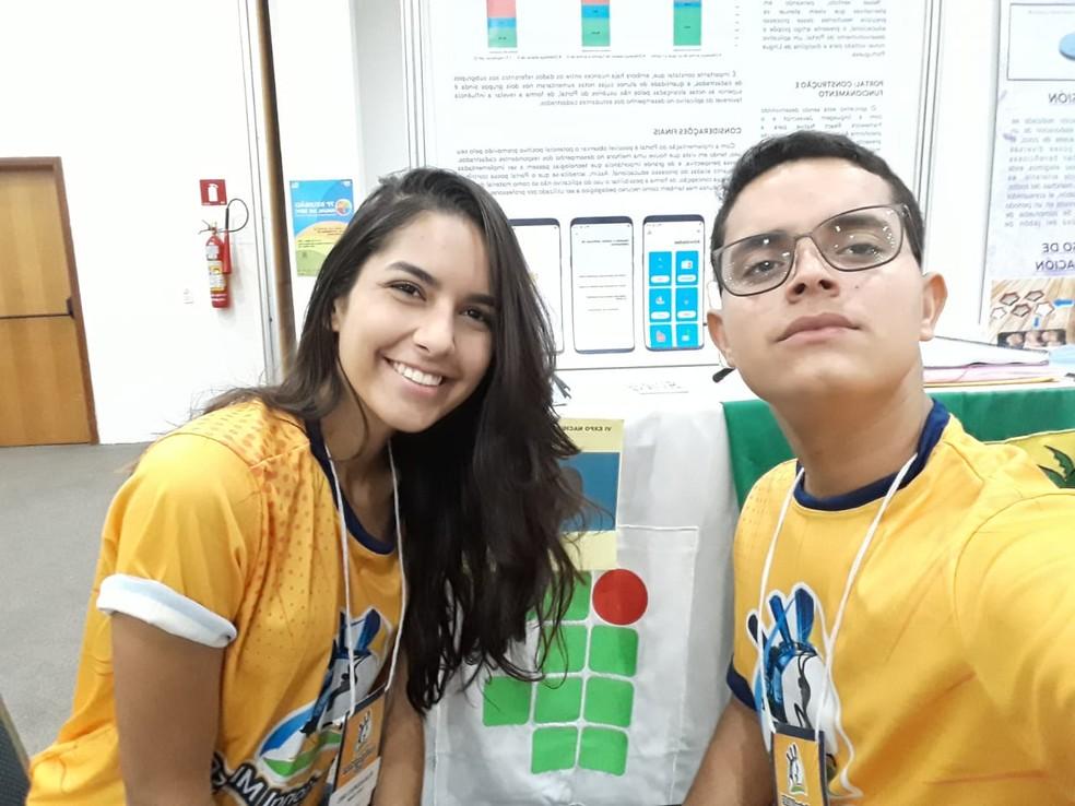 Melina e Djalma são ex-alunos do IFRN de Ceará-Mirim — Foto: Divulgação