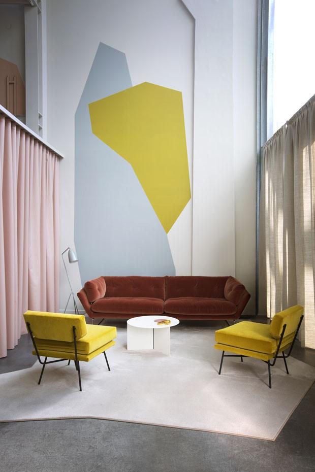 Décor do dia: sala de estar com geometrias (Foto: SILVIA RIVOLTELLA)