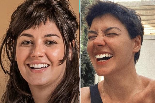 Veronica Debom antes e depois de mudar o visual (Foto: Divulgação e Reprodução)